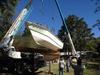 Catamaran Houseboat - removing hull #1 from mold