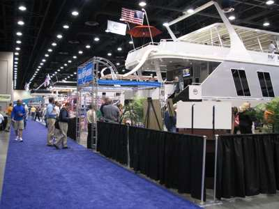 Some of the house boats at the Houseboat Show.