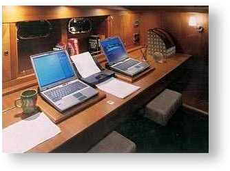 Houseboat Office - work computers