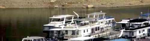 New houseboat marina dock slips