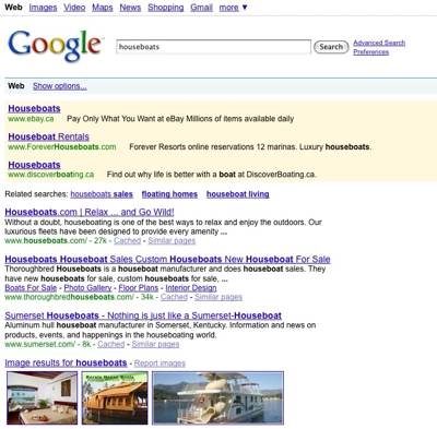 Google Ranking Index for www.all-about-houseboats.com