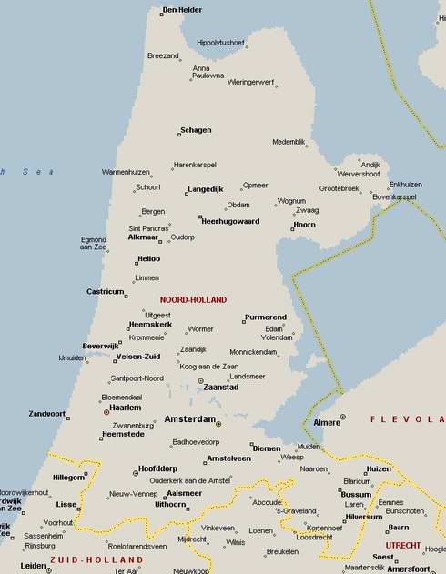 Amsterdam Houseboats map