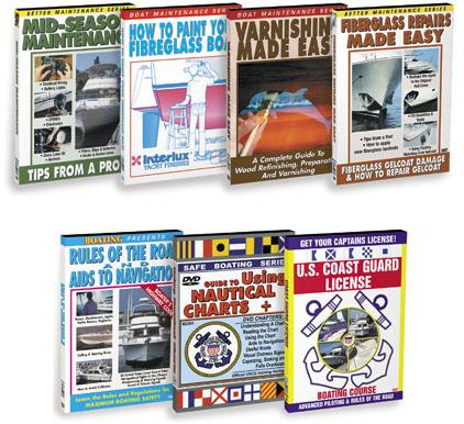 Boating Boaters Maintenance Repair Houseboat Video DVD