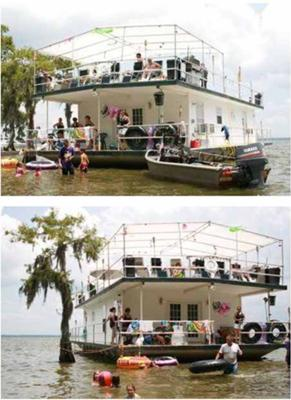 Build your own Houseboat - Sample pictures of our big house boat