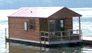 A sampling of a floating cabin style houseboat.