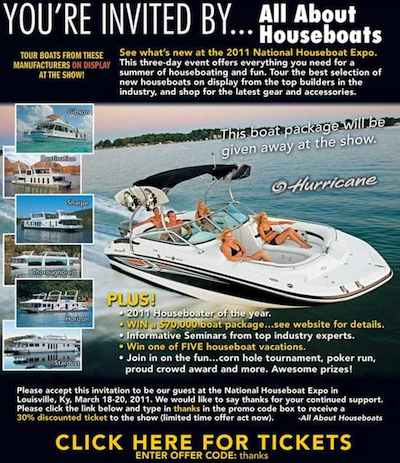 Discount Houseboat Expo Show Tickets