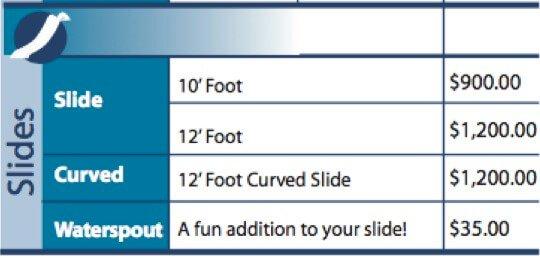 Fiberglass Houseboat Slides - straight or curved slides
