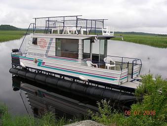 Homemade Houseboats - home built pontoon boat