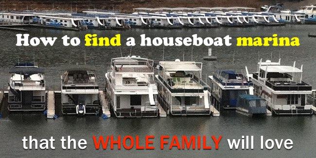 Houseboat marina dock slips