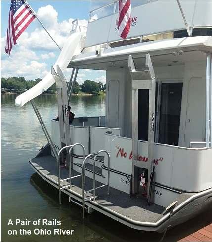 Vertical Houseboat PWC Rails