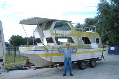 Houseboat Restoration Project - restoring a trailerable Steury