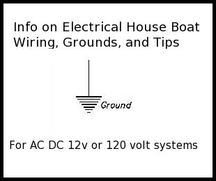 Marine electrical, ground info for houseboats.