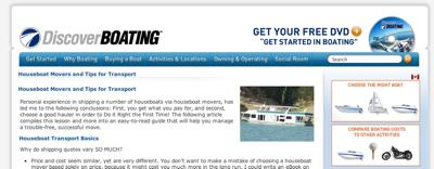 Discover Boating - Houseboat Transport Movers