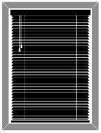 Typical Window Shades Blinds found on Houseboats.