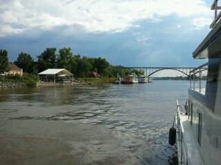 The view from our houseboat on the Mississippi