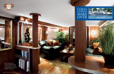 Houseboat Makeovers - the remodelled interior