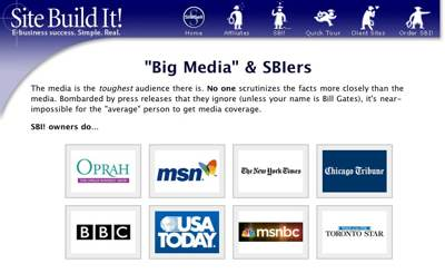 SBI Review - Site Build It SiteSell media success