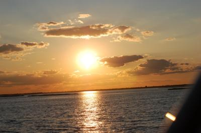 Houseboat Photos - nothing like a Great South Bay sunset