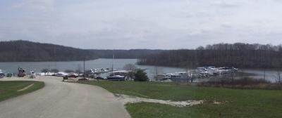 Houseboats on Patoka Lake at Hoosier Hills Marina