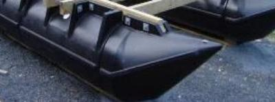 A sample plastic pontoon design used for houseboats.