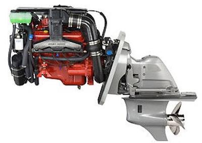 Typical Volvo engine and sterndrive found on houseboats