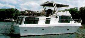 A typical 40 foot Bluewater Yacht houseboat.