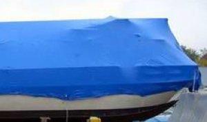 Typical houseboat storage shrink warp.