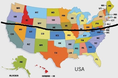 The lower USA States are best for Houseboat Living.