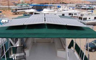 Houseboat Hard Top - ideal location for solar panels