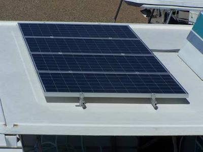 Houseboat Installations - solar panel on front roof deck