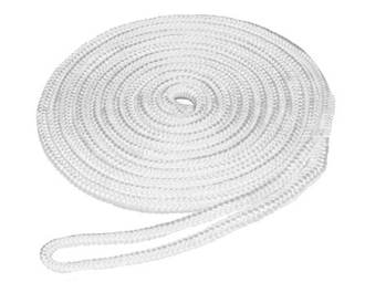 White Nylon Double Braided Dock Lines