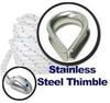 Anchor Rope with Stainless Steel Thimble
