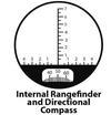 BETTER Binoculars, 7x50, include a digital compass and rangefinder