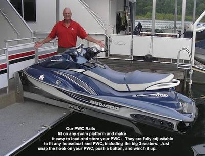 Pwc rail, Seadoo, Jet Ski Lift for Houseboats
