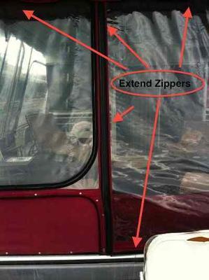 Zipper Repairs - boat canvas or clear vinyl