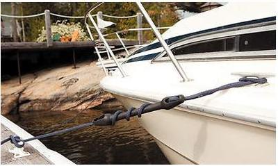 Snubbers for Absorbing Dock Line Shocks
